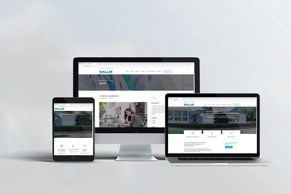 Nuovo sito web Salus mockup